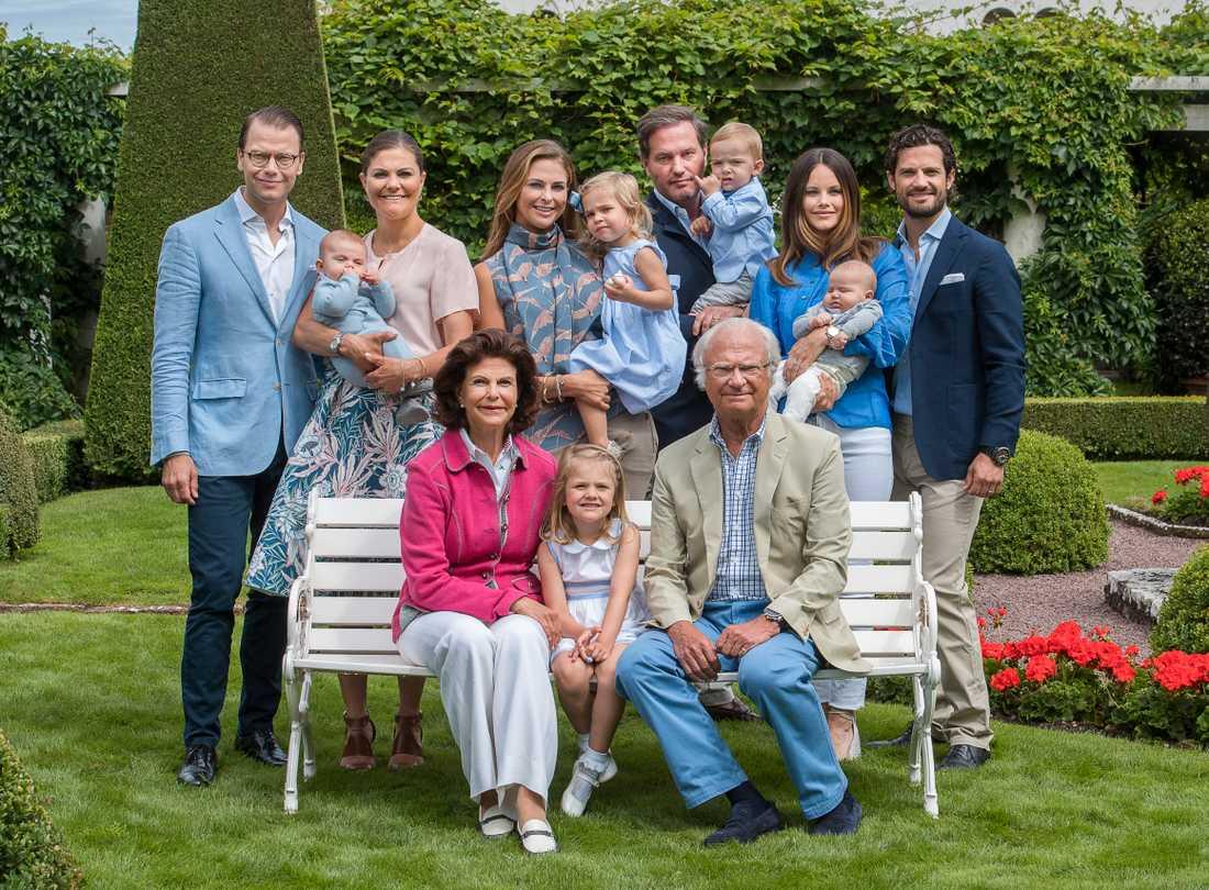 Den svenska kungafamiljen.