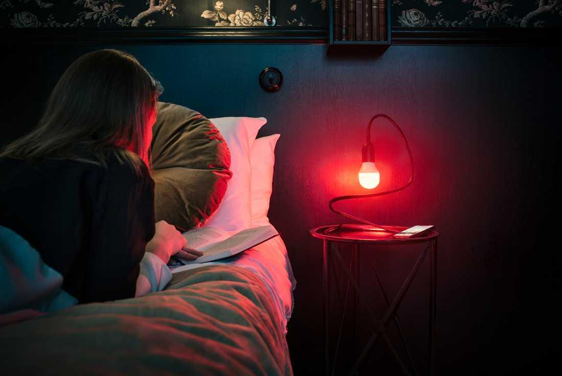 När lampan lyser rött har du nått fullt pris för rummet.