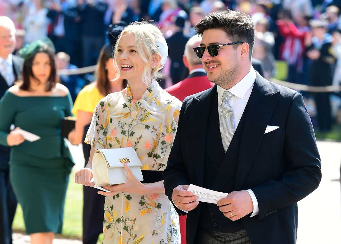 British musician Marcus Mumford and British actor Carey Mulligan