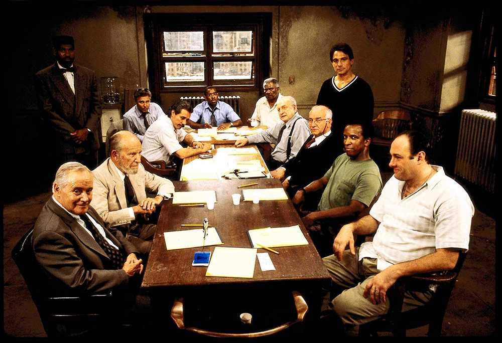 """Gandolfini i filmen """"12 angry men"""" från 1997."""