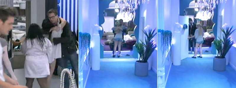 Här tar Tobbe farväl av de andra deltagarna och lämnar huset.