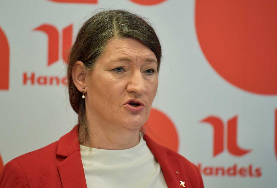 Susanna Gideonsson förbundsordförande i Handelsanställdas förbund. Arkivbild.