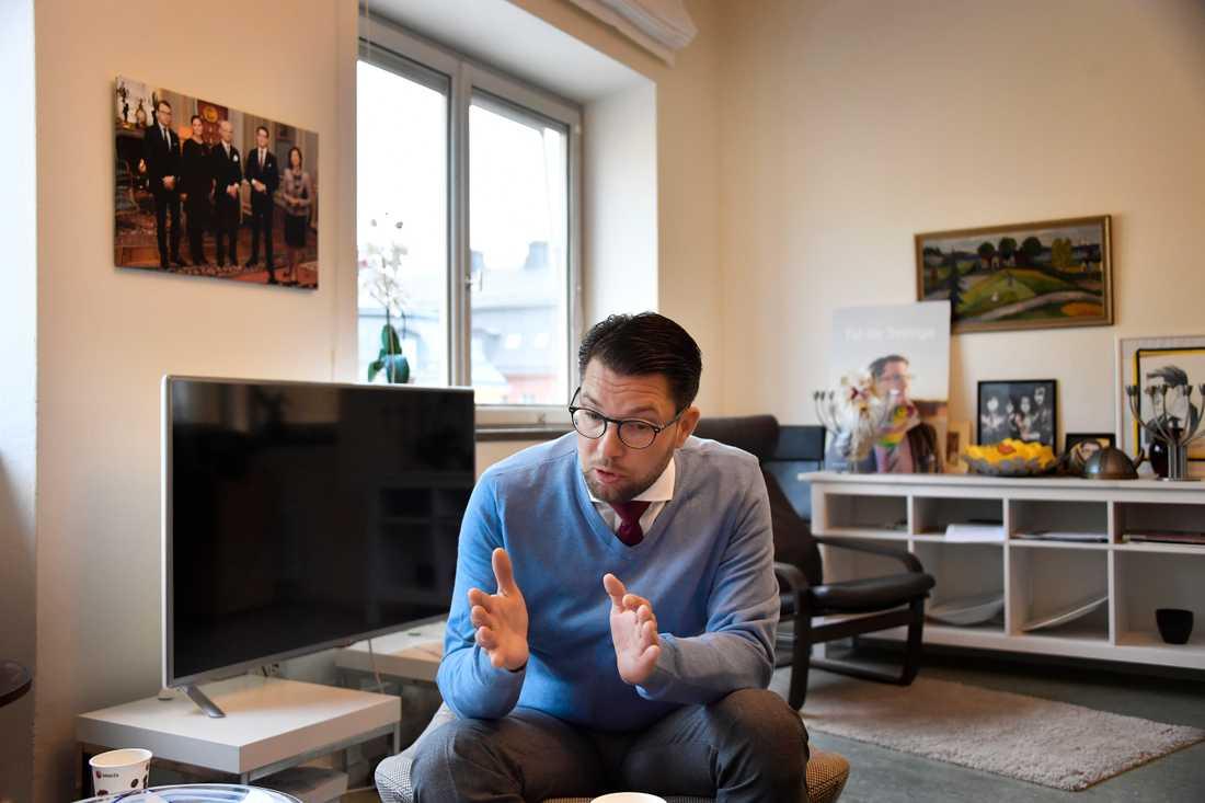 Jimmie Åkesson utgår från att Sverigedemokraterna får makt och inflytande efter valet.