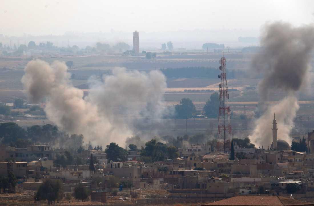 Bomber vid gränsen mellan Syrien och Turkiet.