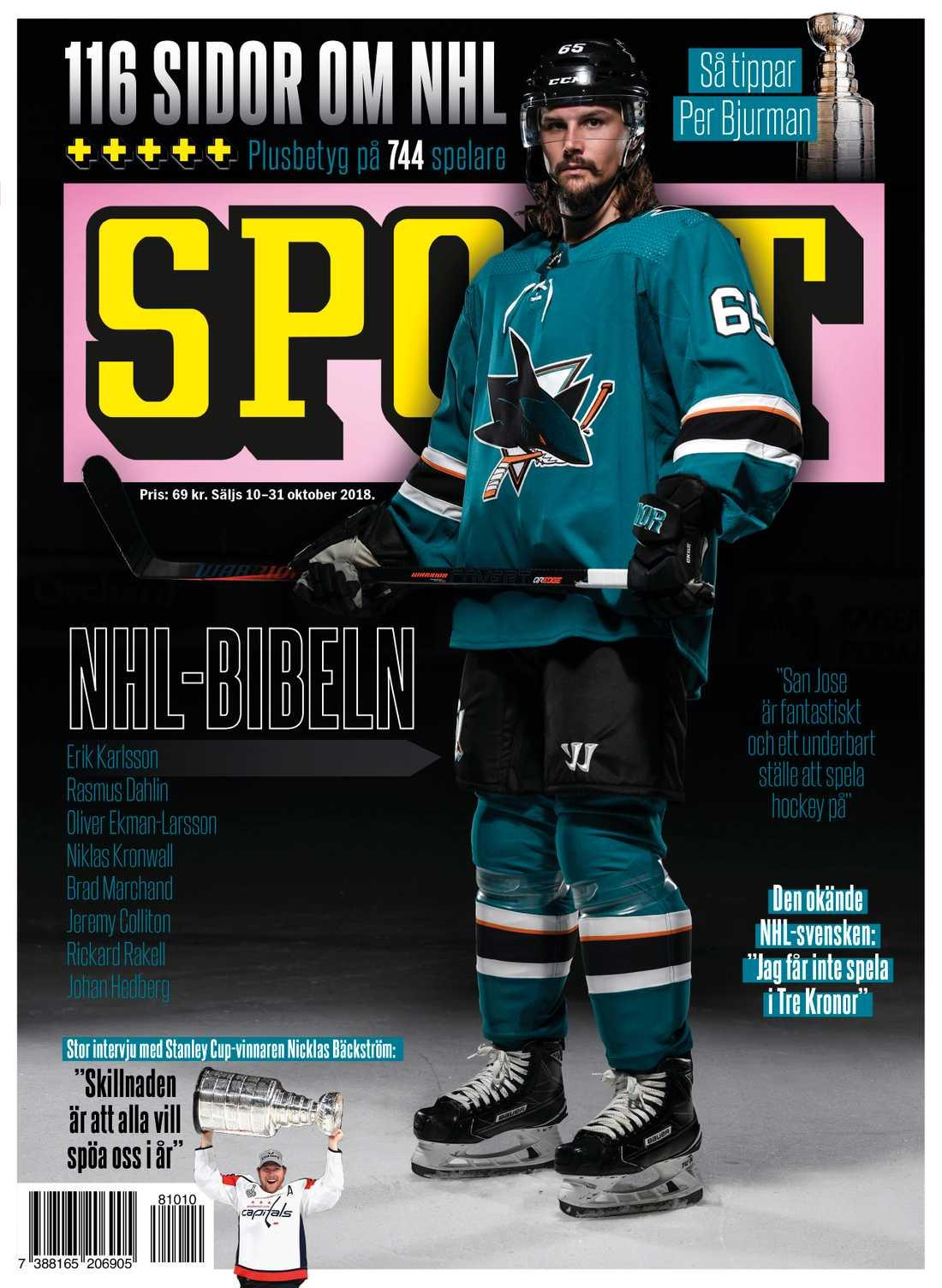 NHL-bibeln säljs i butik 10–31 oktober 2018.