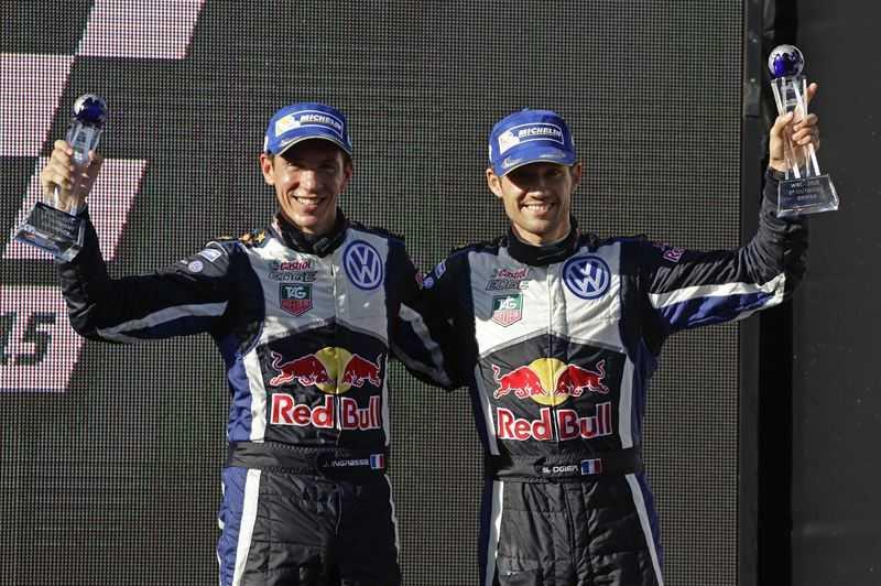 Julien Ingrassia och Sébastien Ogier lyckliga WRC-mästare och vinnare av Rally Australia.
