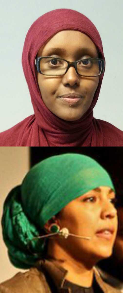 Maimuna Abdullahi och Fatima Doubakil, Muslimska Mänskliga Rättighetskommittén.