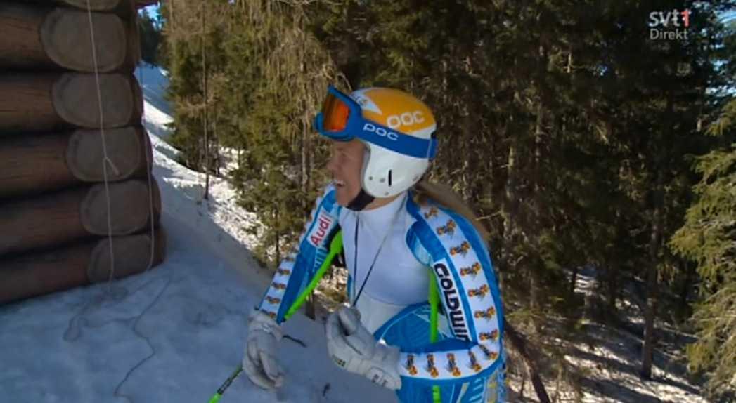 Anja körde med medaljen från Knatte Cup i Hemavan 1987.