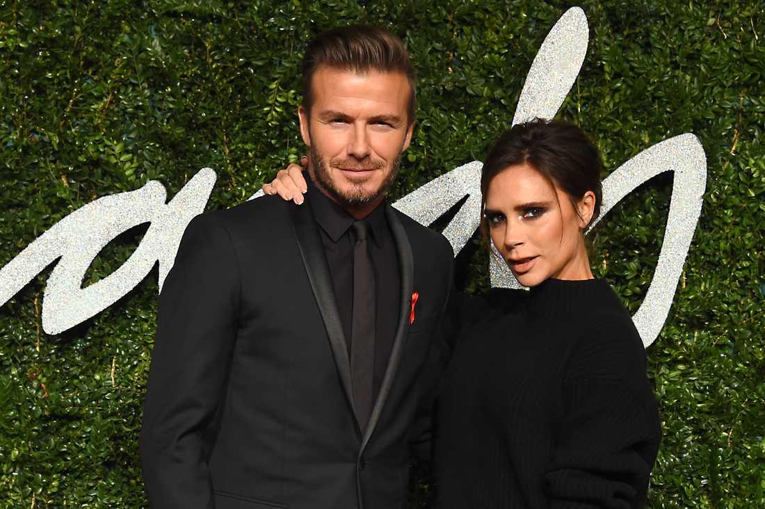 David och Victoria Beckham,