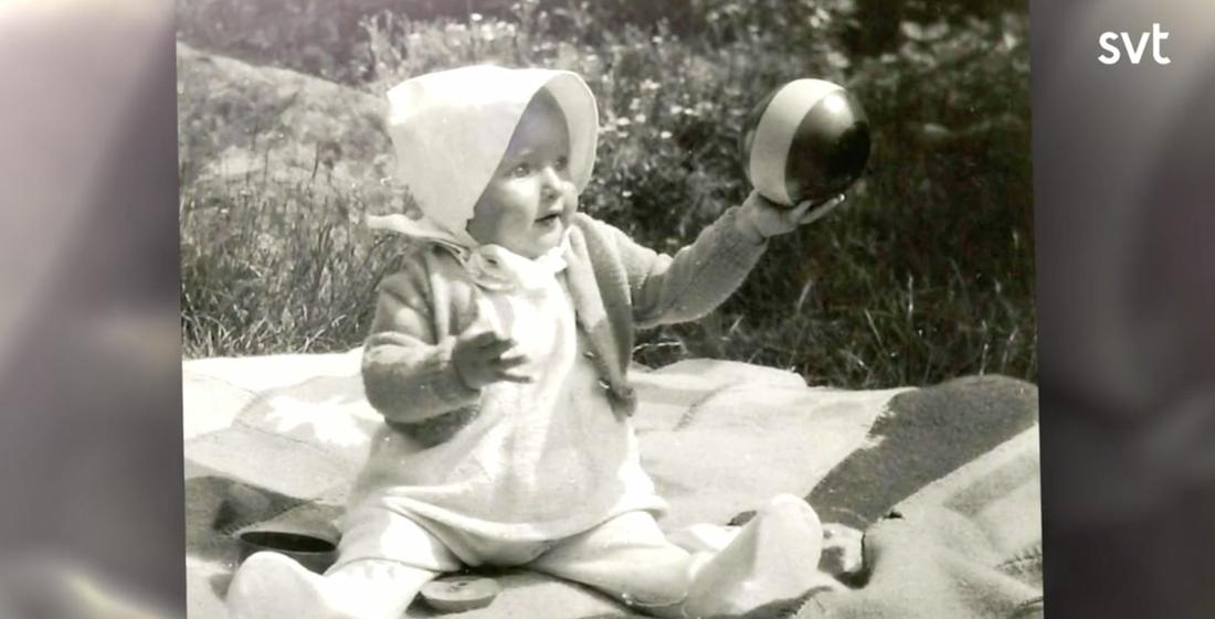 Marianne Mörck som barn