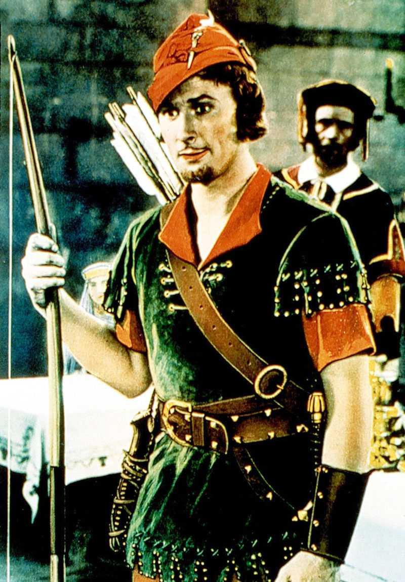 Errol Flynn som Robin Hood.
