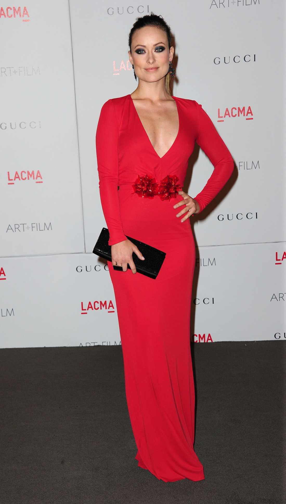 Olivia Wilde Skådisen Olivia Wilde är spektakulär i eldigt rött från Gucci!