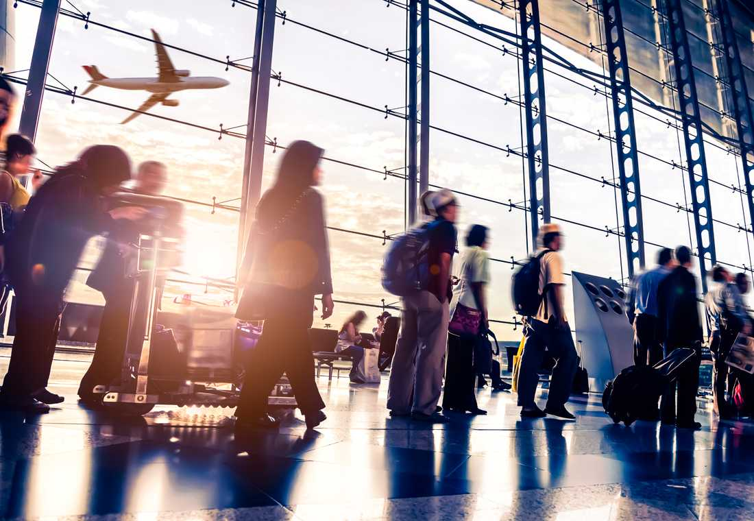 Flygplatserna blir allt mer välbesökta i takt med att flygandet ökar.
