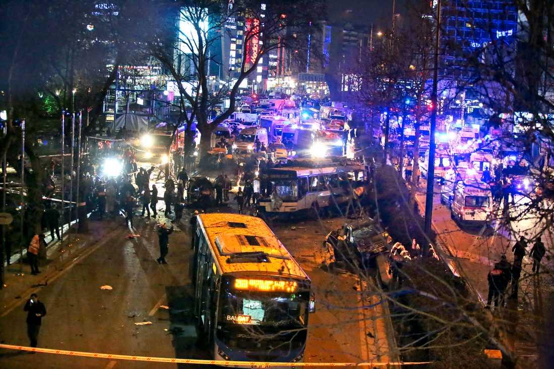 Minst 37 människor dödades och många allvarligt skadade vårdas ännu på sjukhus i Turkiets huvudstad.