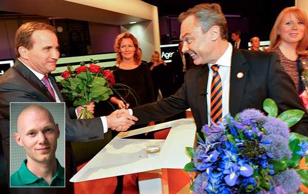 """Niklas Wykman (M) skriver att Alliansen """"bör göra upp med den arbetsmetod som innebär att vi avstår från att lägga skarpa politiska förslag i riksdagen när det verkligen gäller"""" och menar att metoden gynnar Stefan Löfven och Socialdemokraterna."""