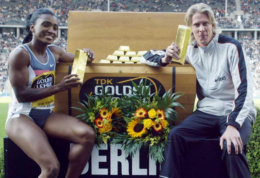 BERLIN 2004 Christian Olsson avslutade det gyllene året 2004 med att ta hem jackpotten i Golden League, tillsammans med Tonique Williams-Darling (400 meter).