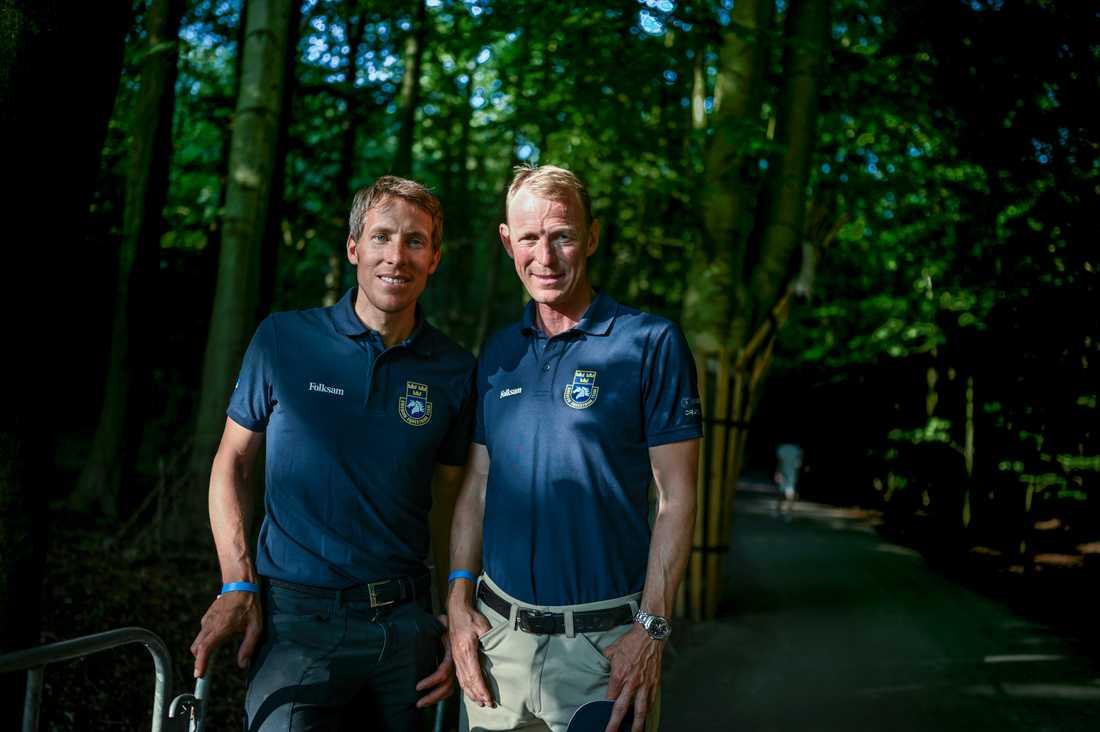 Det blev inga individuella medaljer till Henrik von Eckermann och Peder Fredricson på Ryttar-EM i Rotterdam.