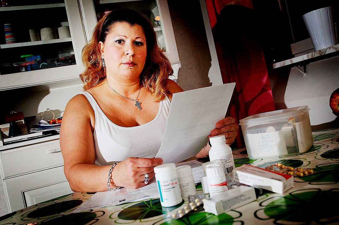 Selma Imas, 44, skadade nacken i en bilolycka.