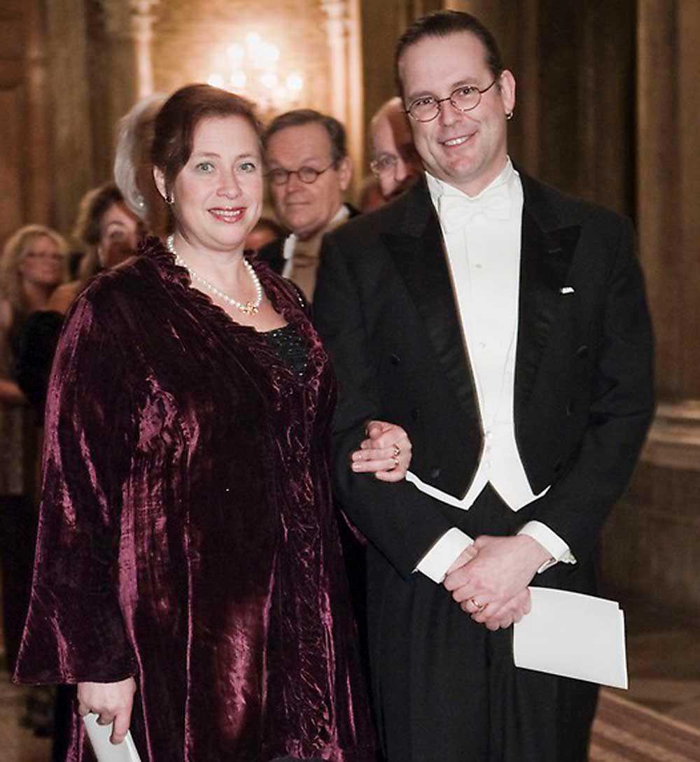 Anders Borg, 44, finansminister. Gift sedan 1994 med Susanna Ölander Borg, 46.