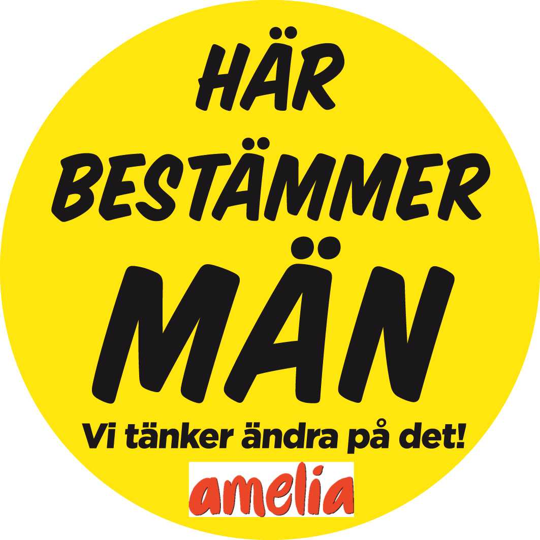 Klistermärket är till för att markera vilka arbetsplatser, företag, bolag och styrelser bara består av män. – Vi vill väcka debatt. Titta på din bostadsrättsförening, din ICA-butik eller din bank. Hur många chefer är kvinnor?, säger Åsa Lundegård.