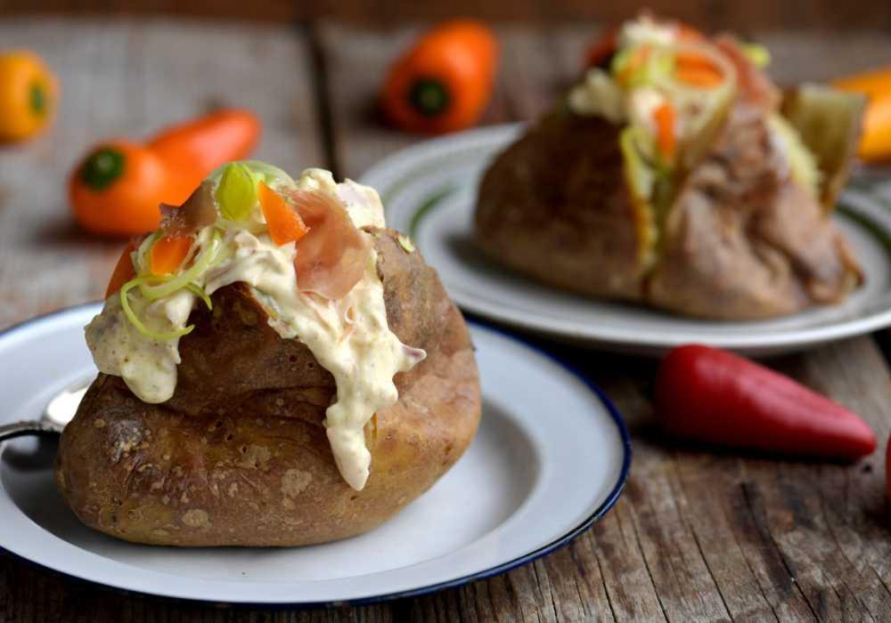 Bakad potatis med läckra fyllningar