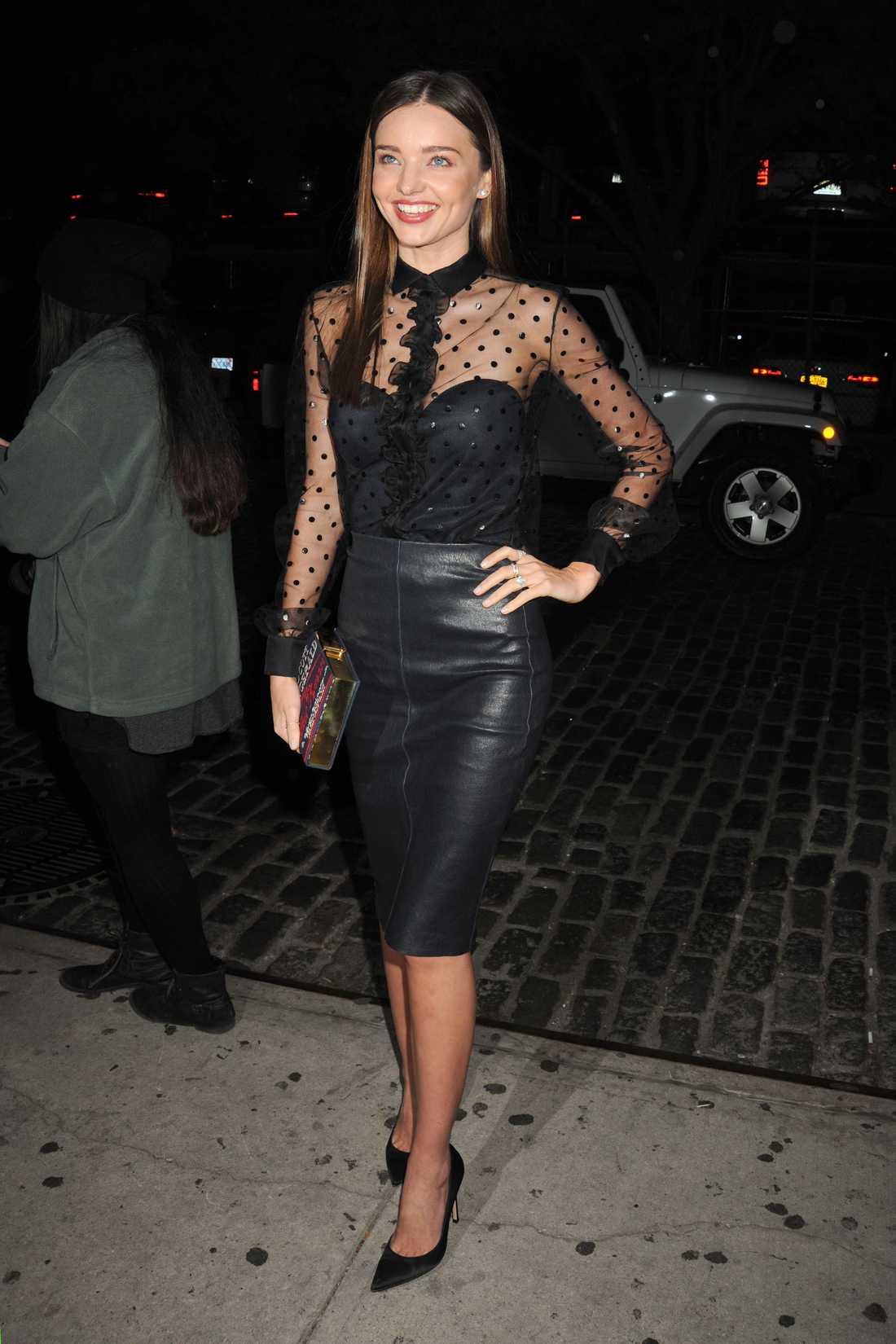 Miranda Kerr I New York på Nur Khan och Harry Joshs årliga party.