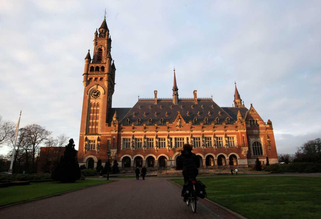 Internationella domstolen i Haag. Arkivbild.