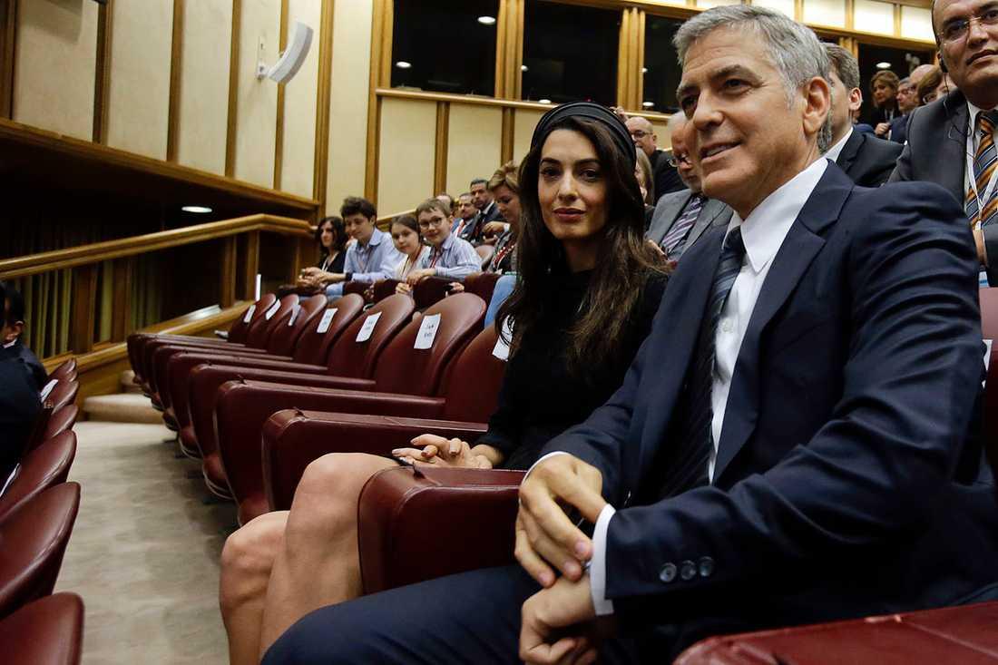 Amal Clooney och George Clooney.
