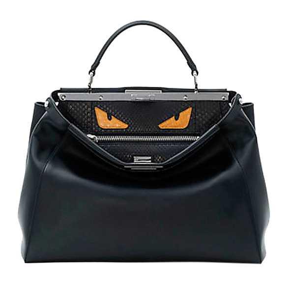 Fendis väska med ögon kostar omkring 40 000 kronor.