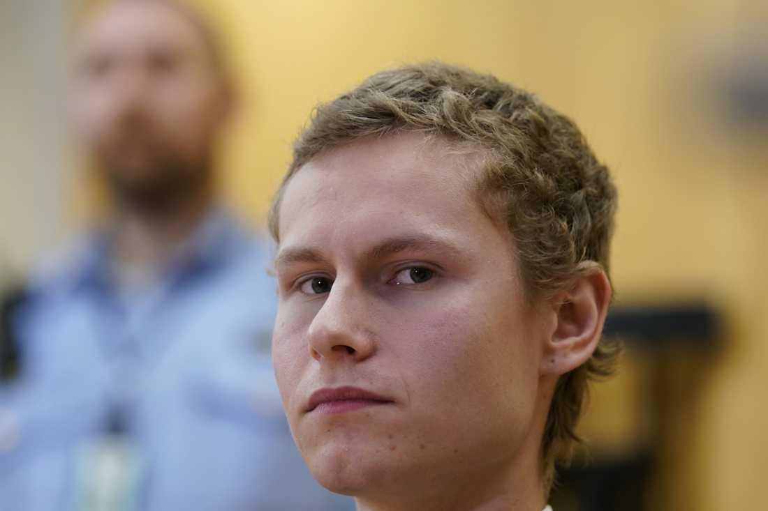 Den misstänkte högerextreme terroristen Philip Manshaus i Oslo tingsrätt den 9 september.