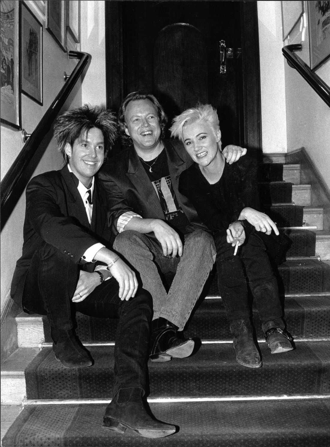 Per Gessle, Lasse Lindbom och Marie Fredriksson 1989.