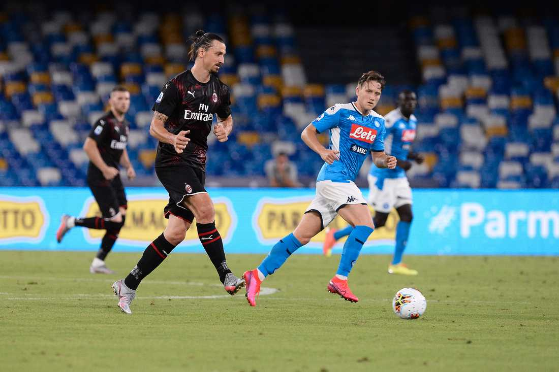Zlatan Ibrahimovic byttes ut i den 61:a minuten.
