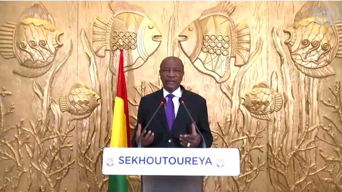 Guineas president Alpha Condé. Arkivbild.