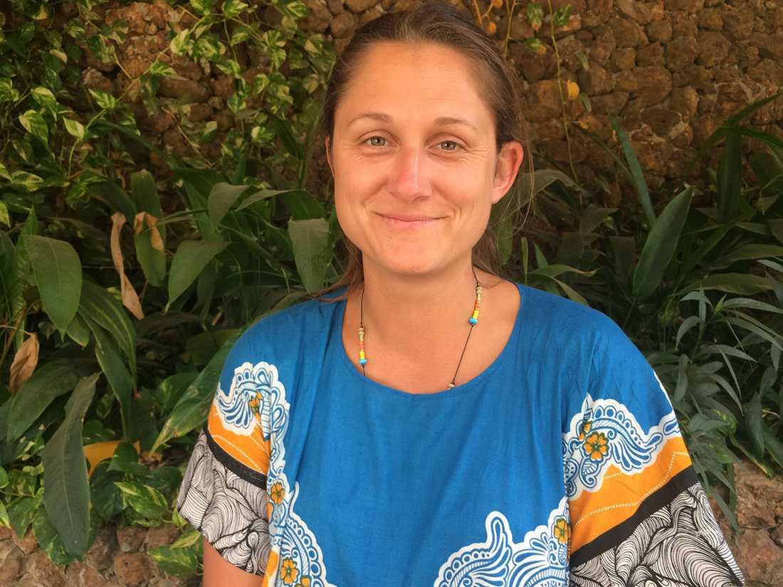 Frida Johansson från Göteborg är fast i Gambia.