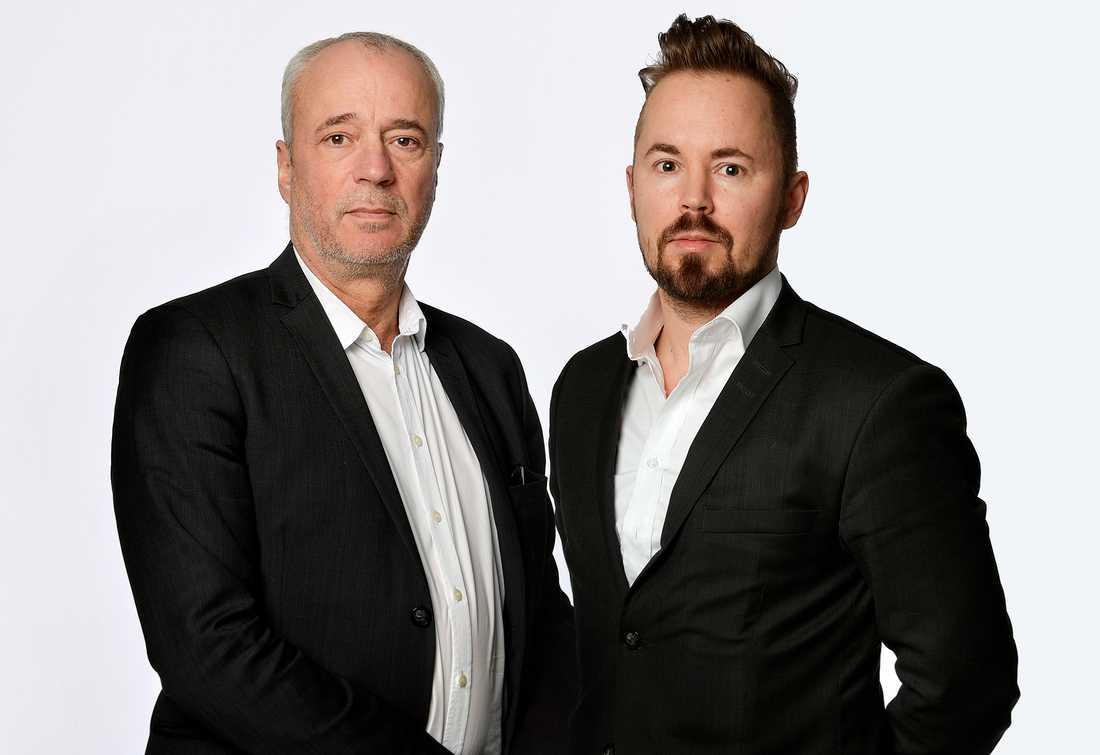 Aftonbladets reportrar Richard Aschberg och Mattias Sandberg är nominerade för sina granskningar.