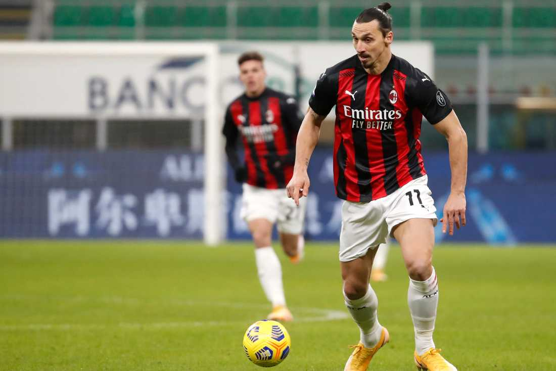 Zlatan Ibrahimovic gjorde comeback för sitt Milan i helgen.