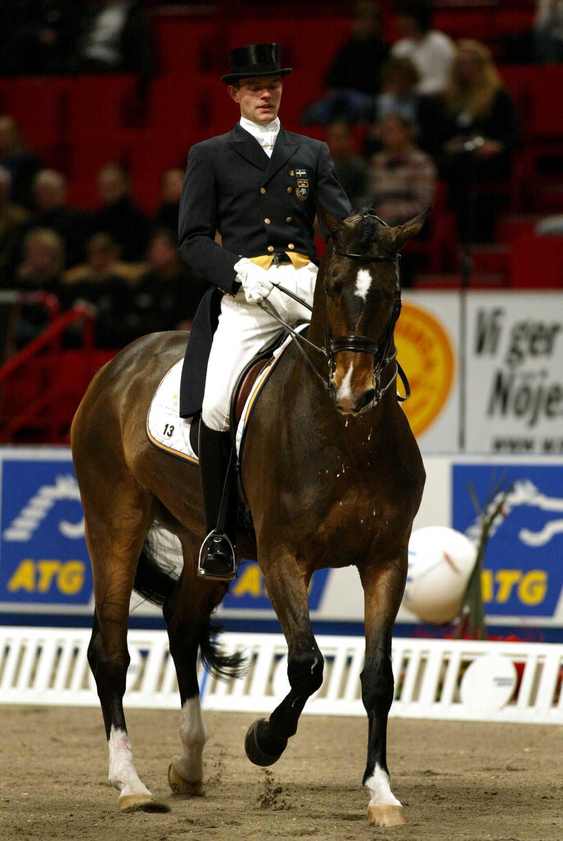 Mattias Jansson på Stockholm Horse Show.