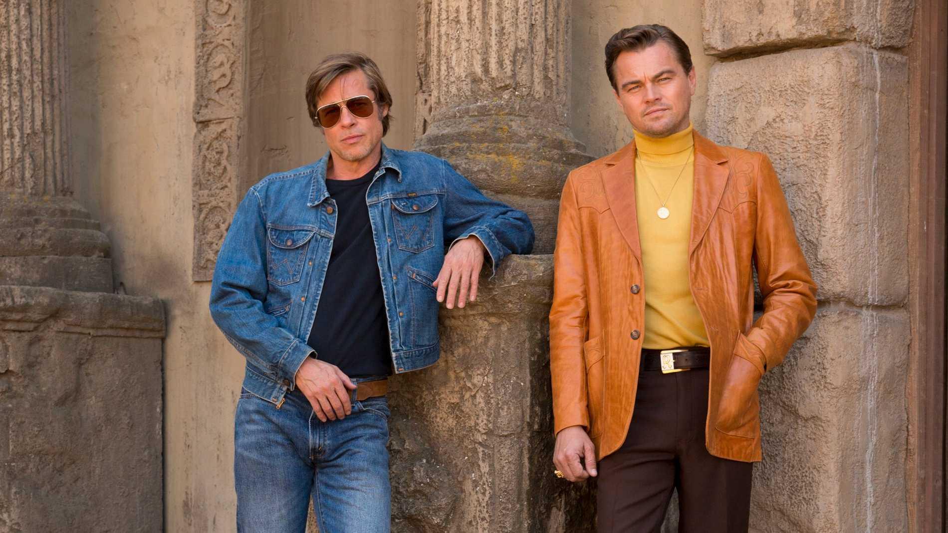 "Brad Pitt och Leonardo DiCaprio i ""Once upon a time in Hollywood""."