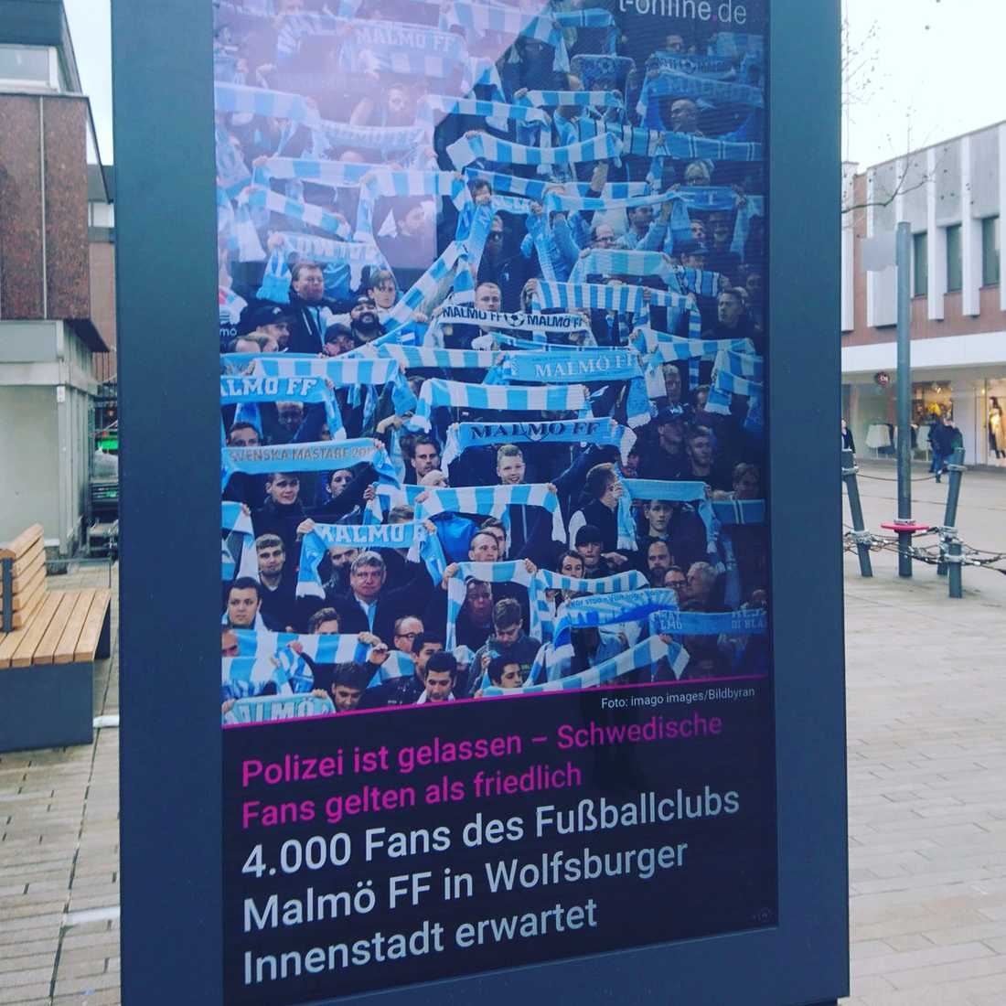 Polisen i Wolfsburg lugnar sina invånare inför MFF-invasionen.