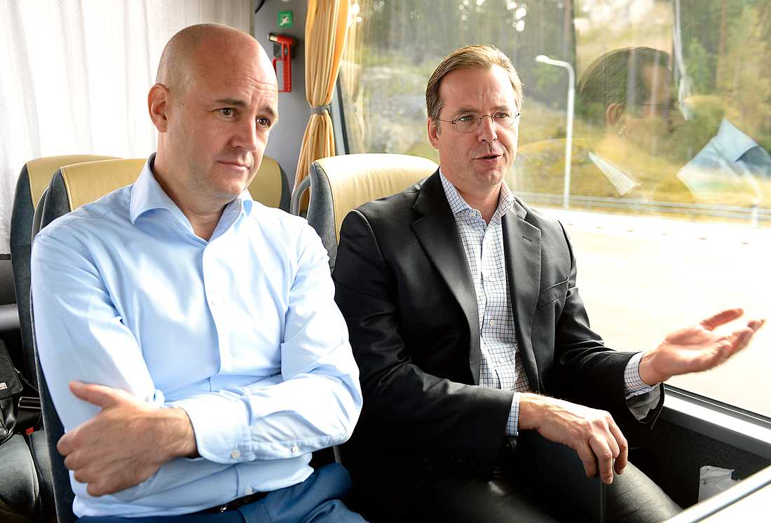 Fredrik Reinfeldt och Anders Borg.
