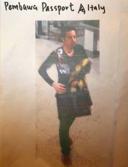 Mannen på bilden som Interpol släppt har identifierats som Delavar Seyedmohammaderza, 29.