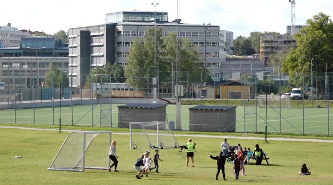 Ursviks IP i Sundbybergs kommun utanför Stockholm.