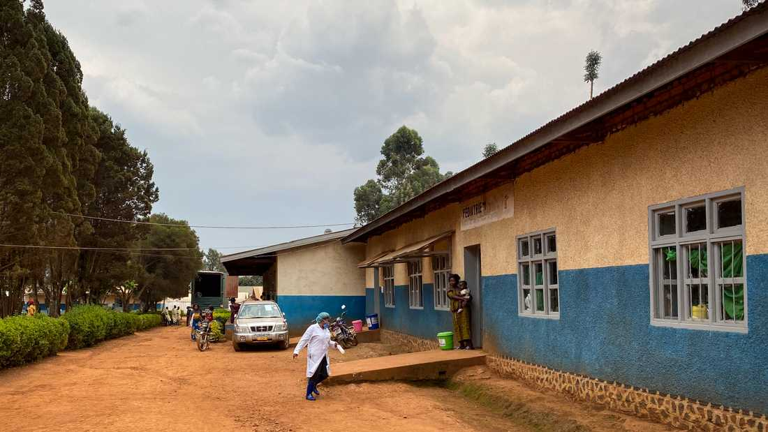 Matandasjukhuset i Butembo i Kongo-Kinshasa, där en ebolasjuk patient nyligen dog.