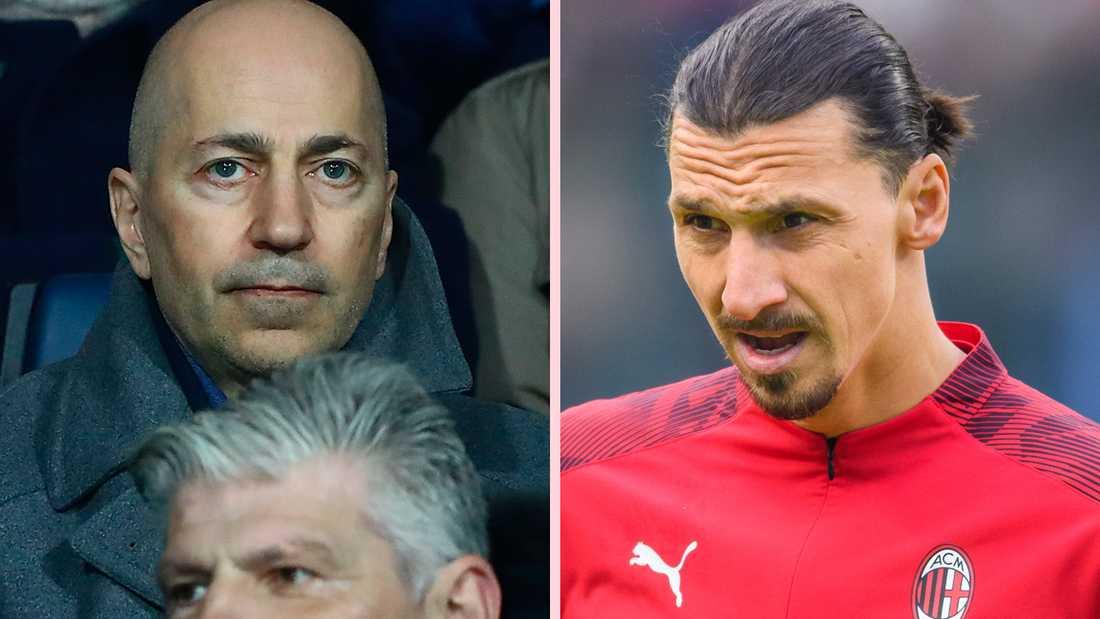 Milans VD Ivan Gazidis och Zlatan Ibrahimovic