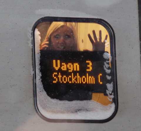 """""""Totalt upplopp"""" Strax innan Hallsberg stannade SJ-tåget mellan Göteborg och Stockholm. Efter tio timmar började tåget att röra på sig vid 02.30-tiden i natt. """"Det är totalt upplopp och väldigt aggressiv stämning. Jag såg en person som öppnade en av nöddörrarna och bara slängde sig ut"""", säger Frida Grönborg som var ombord på tåget."""
