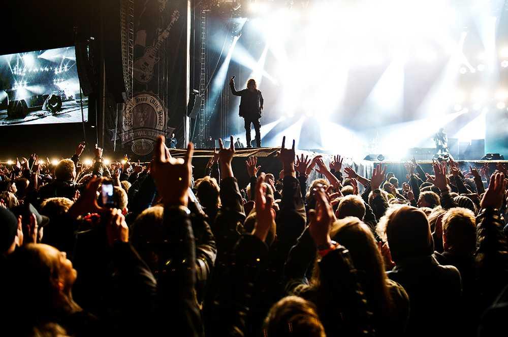 "Publikhav under Soundgardens spelning på ""Sweden rock festival"" häromåret."