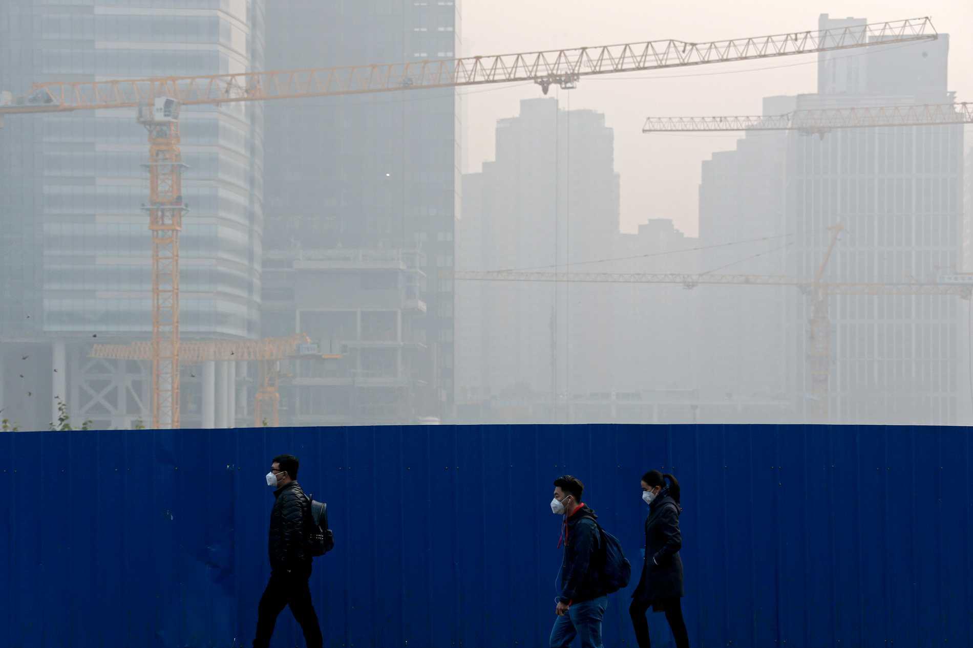 Peking inhöljd i smog. Arkivbild.