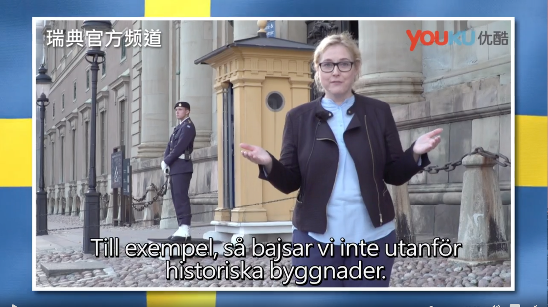 "Programmet ""Svenska nyheter"" drev med kinesiska turister."