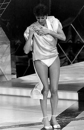 Klädnummer under Eurovision i Sverige, 1985.