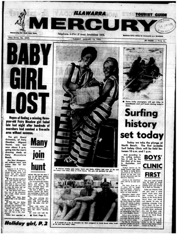 Tidningsomslag från tiden för Cheryls försvinnande.